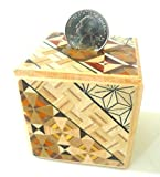 Japanese Samurai Wooden Yosegi Magic Coin Saving Bank Puzzle Trick Box HK-035, Made in Japan