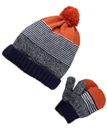 Carter\'s Baby Boys Winter Hat-glove Sets D08g049, Multi, 12-24M