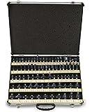 Neiko 80-Piece Premium-Grade 1/2 Inch Tungsten Carbide Router Bit Set - 3 and 2 Blade - Aluminum Case