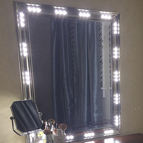 60 Leds 9.8 FT Make-up Vanity Mirror Light DIY Light Kits for Cosmetic Makeup Vanity Mirror with Power Supply and ON//OFF Switch