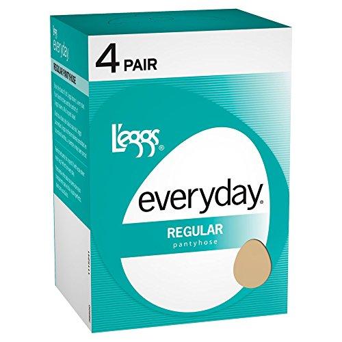 L'eggs Everyday Regular ST 4 Pair, Nude, B