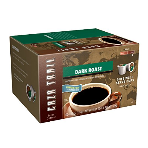 Caza Trail Coffee, Dark Roast, 100 Single Serve Cups (Coffee K Cups 100 compare prices)