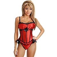 Corset Red Three Bows And Lace M&s Lingerie from M&S LINGERIE