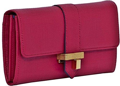 **Prezzo scontato per esaurire le scorte **French Connection'Eliza'portafoglio, in pelle, colore rosa, include copriracchetta 95,00