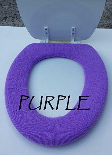 Bathroom Toilet Seat Warmer Cover - Purple - Washable