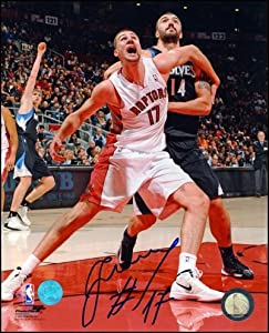 Jonas Valancuinas Toronto Raptors Autographed Hand Signed 11x14 Action Photo by Hall of Fame Memorabilia