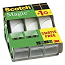 Scotch 8.1975C32 Pack de 3 Dévidoirs de Ruban 19 mm x 7,5 m