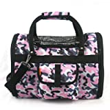 Prefer Pets Light Weight Soft Siided Pet Carrier, Pink Camouflage