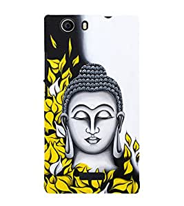 Prasanna Buddha 3D Hard Polycarbonate Designer Back Case Cover for Micromax Canvas Nitro 2 E311 :: Micromax Canvas Nitro 2 (2nd Gen)