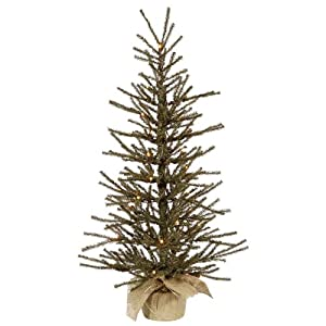 Vickerman Vienna Twig Tree with 20 Clear and 320 Tips, 24-Inch by 14-Inch
