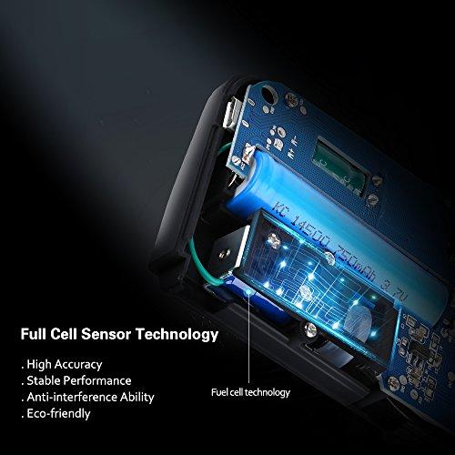 VicTsing Éthylotest avec 4 Embouts Inclus/Numérique Alcootest Capteur de Piles à Combustible et Écran LCD pour Chauffeurs
