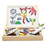 Happy cherry - (2 en 1)Puzzle Magnético + Pizarra - Tabla de enseñanza - Caja de Juguetes Juegos Educativos para Niños niñas