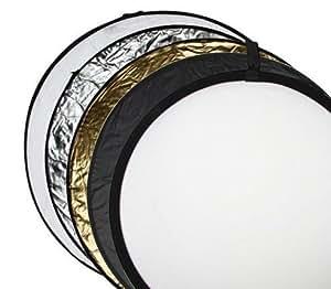 Maxsima - 5 en 1 pliable photographique réflecteur de lumière: Or, argent, noir, blanc, et translucide, 80cm