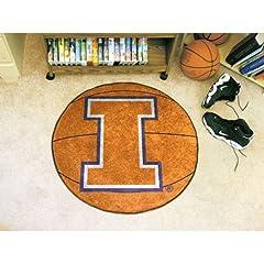 Buy Fanmats Illinois Fightin Illini Basketball-Shaped Mat by Fanmats