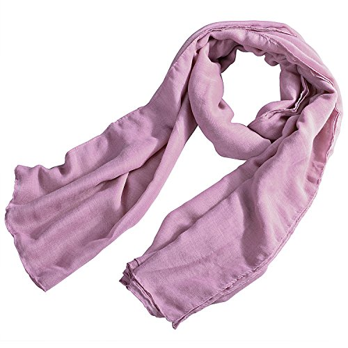Insten® 180x110cm Sweet Candy Color Plain Scarf, Light Pink