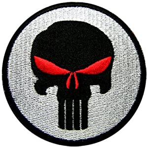 Hook Patch Bleeding Red Special Forces Punisher Seal ODA Navy  Patch