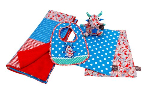 Trend Lab Mommy'S Little Monster 5 Piece Gift Set, Red/Blue front-262374