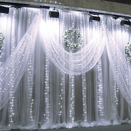 le led window curtain icicle lights 306 led string fairy. Black Bedroom Furniture Sets. Home Design Ideas