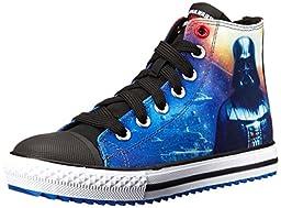 Skechers Kids Star Wars Jagged Starfleet Lace-Up Sneaker (Little Kid/Big Kid), Black/Multi, 12 M US Little Kid