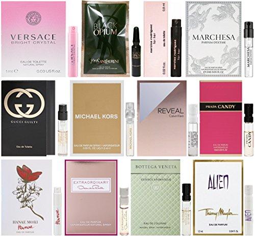 Womens-Designer-Fragrance-Vial-Sampler-Set-Lot-of-12