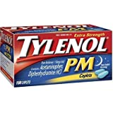 Tylenol PM Pain Reliever, Nighttime Sleep Aid, Extra Strength Caplets, One 150-Count Bottle