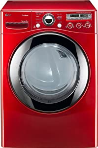 LG DLEX2650 7.3 Cu. Ft. Ultra Large Capacity Electric SteamDryer, Wild Cherry Red