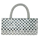 Glitter Collection Women's Silver Clutch SQH001