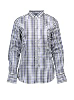Fred Perry Camisa Hombre (Azul / Negro / Blanco)