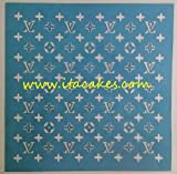"Louis Vuitton Stencil for Cakes and All Purposes 8 X 8"" - 20 X 20 Cm"