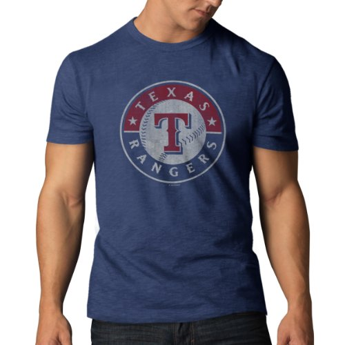 MLB Texas Rangers Men's Scrum Basic Tee, Medium, Bletcher Blue (Texas Rangers compare prices)