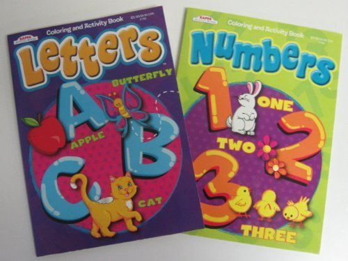 Letters & Numbers Coloring Books