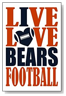 Live Love I Heart Bears Football lined journal - any occasion gift idea for Chicago Bears fans from WriteDrawDesign.com