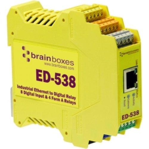 BRAINBOXES ETHERNET TO DIGITAL IO RELAY 8 DIGITAL INPUT & 4 FORM A