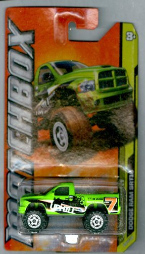 Matchbox 2012-50 MBX Desert Dodge Ram SRT10 GREEN 1:64 Scale