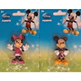 Disney Mickey and Minnie Mouse Cake Topper Figurine 3 (2 Pcs)