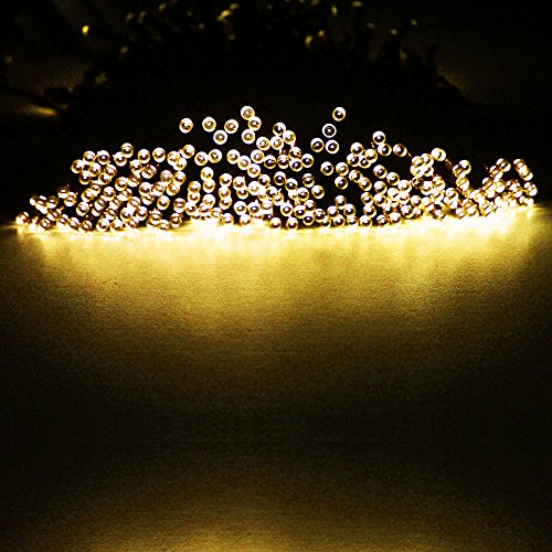 Amars(Tm) 166Ft/50.5M 500Leds Fairy Lights Solar Powered Christmas Xmas Party Festival Lights, Waterproof Led String Eco-Friendly Energy Saving Light For Outdoor, Gardens, Homes Warm White