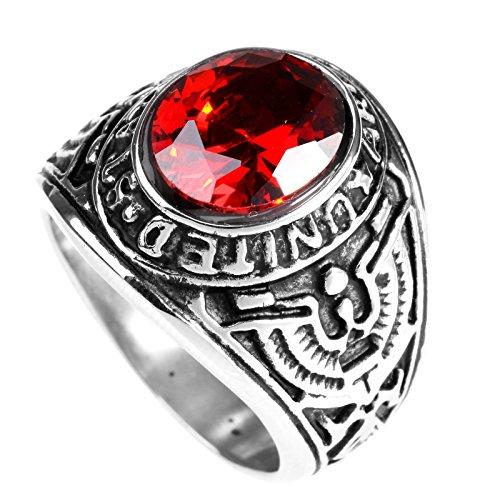 lopez-kent-anillo-de-acero-de-la-vendimia-us-army-hombres-de-acero-de-eagle-con-red-oval-piedra-de-l