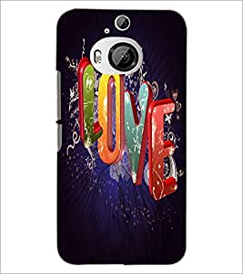 PrintDhaba Love Quote D-2813 Back Case Cover for HTC ONE M9 PLUS (Multi-Coloured)