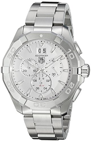 TAG-Heuer-Mens-Aquaracer-Swiss-Quartz-Stainless-Steel-Dress-Watch-ColorSilver-Toned-Model-CAY1111BA0927