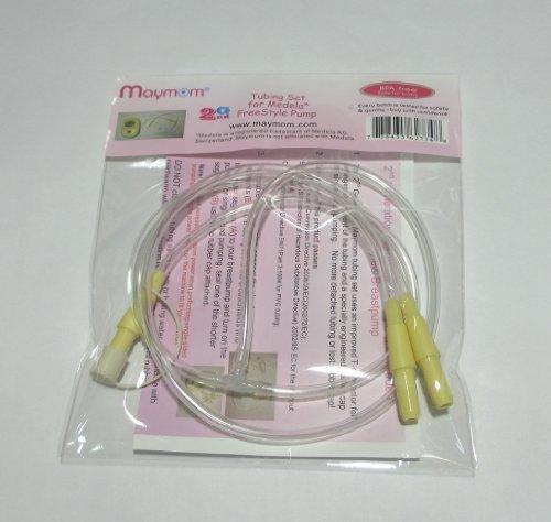 Set di tubicini Maymom di 2a generazione per tiralatte FreeStyle Medela; ricambio per articolo no. 200.1564 Medela