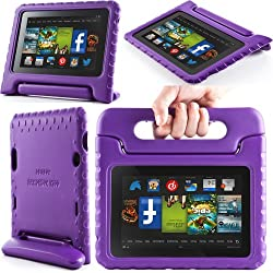 i-Blason ArmorBox Kido Series for Amazon New Kindle Fire HD 7 Inch Tablet [2013 Rlease / Not Compatible with Kindle Fire HD 7 2012 Release] Light Weight Super Protection Convertiable Stand Cover Case Kids Friendly (Purple)