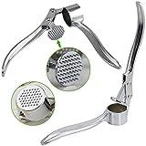 TRIXES Edelstahl Knoblauchpresse Ingwerpresse Küchenutensil Küchenwerkzeug -