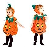 Camelopardalis ハロウィン 子供用 かぼちゃ ポンチョ パンプキン 帽子 セット コスプレ 仮装 衣装 パーティグッズ コスチューム (04 パンプキン Mサイズ)