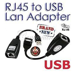 150FT USB 2.0 Male to Female Cat 5e 6e RJ45 LAN Extender