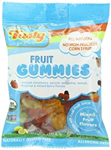 Tasty Brand Organic Fruit Snacks, Mixed Fruit Flavors, 2.75-Ounce Bags (Pack of 12)