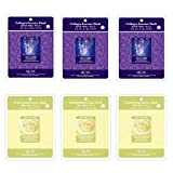Mulgwang Collagen Brightening Essence Face Facial Mask Package 6pcs - Enlarged Living Nature Grind Compressed Sheet Mask