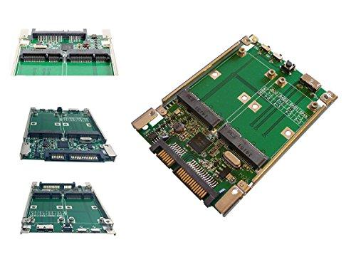 Kalea-Informatique Adapter/Controller RAID für 2 SSD mSATA auf SATA 3.0 oder USB 3.0