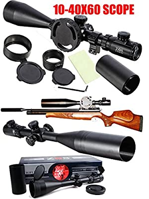 Ledsniper®ZOS 10-40x60 E SF IR SWAY R6 Reticle MilDot Tacticle Rifle Scope Multi Coated by Ledsniper®