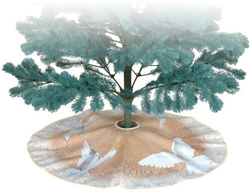 Premier Kites 80031 Tree Skirt, Heavenly Peace, 28-Inch