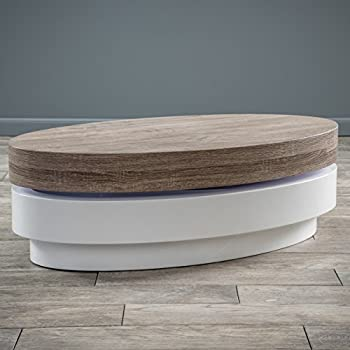 Arlo Oval Mod Swivel Coffee Table